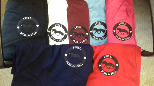 t-shirts with Fell pony logo