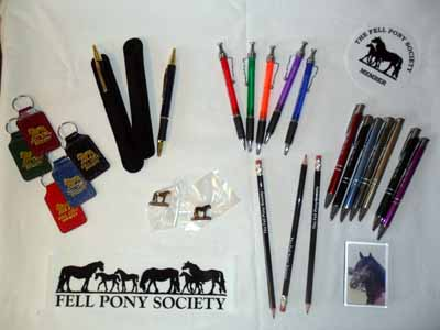 pens, pencils, badges, stickers